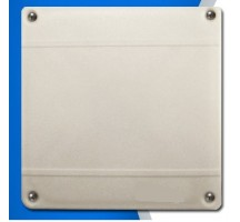 Carte RFID UHF (868Mhz) en polypropylène + elastomère thermoplastique(PP+TPR) blanc pour palette avec 4 trous de fixations
