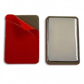TAG RFID  époxy rouge  souple PVC sur métal autocollant HF