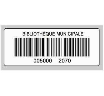 RFCOETPA09BLBA002 étiquette RFID HF NFC type V papier blanc autocollant