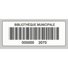 RFCOETPV08BLBA025, étiquette RFID PVC HF NFC TYPE V blanc autocollante