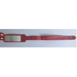 RFCOBRPV08ROAS006 bracelet RFID HF rouge PVC à usage unique ICode 2 NFC Type V