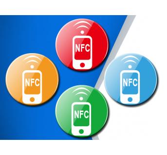 Etiquette ronde RFID HF 13.56Mhz NFC