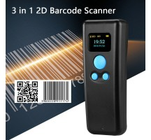 DCBT55 lecteur 2D BT 2.4Ghz USB-HID avec écran rétroéclairé noir